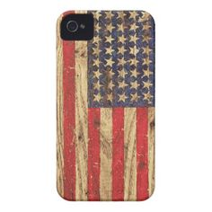 DO ON CUTTING BOARDS AND SEALVintage Patriotic American Flag on Old Wood Grain iPhone 4 Case-Mate Cases