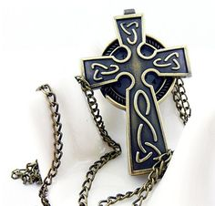 Retro  Cross  pocket watch necklaceV113 by XsisterJewelry on Etsy, $7.99