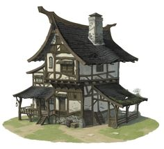 Medieval House, JiWon So on ArtStation at https://www.artstation.com/artwork/a4E0z