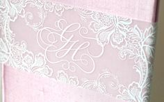 Pink Lace Wedding Invitation by Atelier Isabey , via Behance