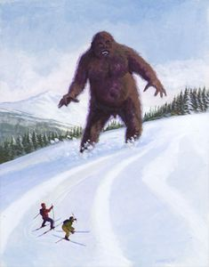 I'm always astounded by media that makes sasquatch the size of King Kong. You think Bigfoot would be easier to catch if his nipples were above the tree line.