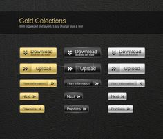 Template Image for Metals & Gold Web Buttons - 30114