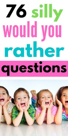 76 Super Fun Would you rather ask questions for kids, Silly Questions To Ask, Would You Rather Questions, This Or That Questions, Rainy Day Activities For Kids, Toddler Activities, Games For Kids, Summer Activities, Kids Fun, Family Activities