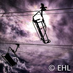 This listing is for an unmatted and unframed print on glossy or matte photo paper.  Hiking in the Colorado ski resort, Vail, I snapped this shot as the sun was gleaming off of the metal ski lift chairs.  Prints smaller than 16x20 will ship flat in sturdy packaging while prints 16x20 and larger will ship rolled in a heavy duty tube. All prints are signed on the back.  Please feel free to contact me with any questions!   All prints are originals of EHL Photography.