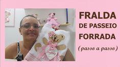 FRALDA DE PASSEIO FORRADA ( Passo a Passo)