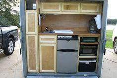cargo trailer camper conversion - kitchen