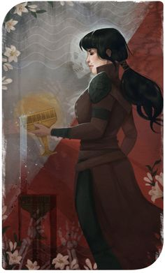 Tarot card for Didiher of her gorgeous necromancer: Nia trevelyan.