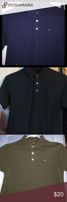 Marc Jacobs Navy Blue Polo -XS New condition Marc Jacobs Shirts Polos