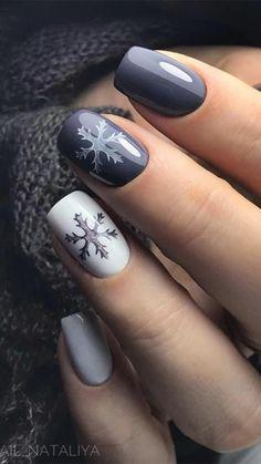 Cute Christmas Nails, Xmas Nails, Christmas Nail Art Designs, Winter Nail Designs, Short Nail Designs, Fun Nails, Christmas Ideas, Winter Christmas, Winter Nail Art