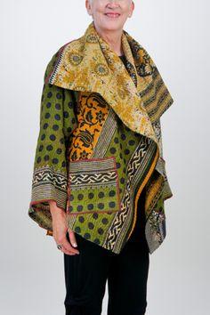 Kantha Short Jacket #3 by Mieko Mintz @artful Home