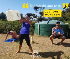 """You don't always need fancy equipment to get a good workout. The kupu o te wiki is 'tāruarua', which means repetition, but you can shorten it to tā. The next time you and your hauora crew are working at it, give them some encouragement and say, """"Kia kōtahi ano te tā"""". Just one more rep! #diyworkout #diywod #barefeet #outdoorworkout #mangawhai #kupuotewiki #wordoftheweek #tereo #māori #toirēhia #earningthatswimafter #weirdneighbours Outdoor Workouts, Fun Workouts, Barefoot, Encouragement, How To Get, Fancy, Sayings, Sports, Maori"""