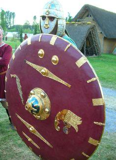 Anglo Saxon warrior and shield