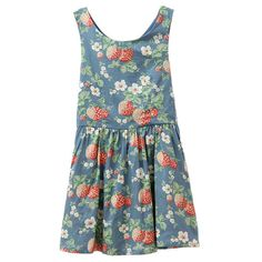 Vintage Floral Print Tank Dress with High Waist (370 ARS) ❤ liked on Polyvore featuring dresses, vestidos, chicnova, dresses/rompers, retro vintage dresses, floral printed dress, blue vintage dress, vintage cotton dress and blue dresses