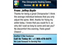 Thanks for being a great Chiropractor! I think the average individual believes that you...