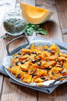 Gustoso #contorno di #zucca cotta al forno con #semidizucca e balsamico #ricetta #vegan #vegetarian #pumpkinrecipes #ricettelight