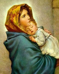 Virgen del camino. (Our Lady of the Street) La imagen que tengo desde niña sobre mi cabecera (pintada por mi abuelo Juan Antonio)....,¡¡¡ preciosa!!!