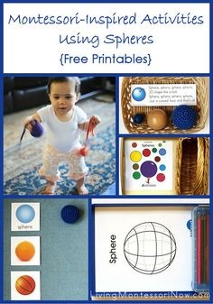 Free sphere printables and Montessori-inspired activities using Spielgaben spheres.