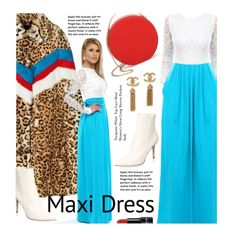 Street Style: Maxi Dress by beebeely-look on Polyvore featuring Gianvito Rossi, 3.1 Phillip Lim, StreetStyle, NYFW, maxidress, lacedress, DesirVale and plus size dresses