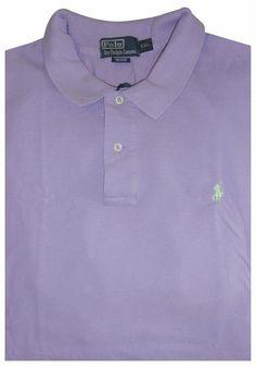 Ralph Lauren Men Slim-Fit American Big Polo Purple Short Sleeved