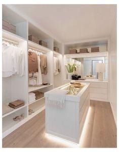 Bedroom Closet Design, Home Room Design, Closet Designs, Dream Home Design, Home Interior Design, House Design, Walk In Closet Design, Walk In Closet Ikea, Hallway Closet