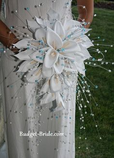 Crystal Bling and Pearl Brides Bouquet