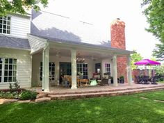 dimples and tangles the next big thing patio project the before - Back Porch Patio Ideas