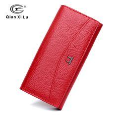 Qianxilu Marke 100% Echtem Leder Brieftasche für Frauen, Hohe Qualität Geldbörse Weiblichen