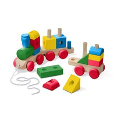 Melissa and Doug Wooden Jumbo Stacking Train ? 4-Color Classic Wooden Toddler Toy (17 Pieces, Great Gift for Girls and Boys ? Best for 2, 3, and 4 Year Olds) -- You can get additional details at the image link. (This is an affiliate link)