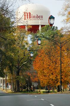 Minden's Broadway in the fall-I LOVE my home town!! Small town Louisiana at its finest!