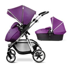 Damson Purple Pioneer Pram, Pushchair and Travel System from Silver Cross UK