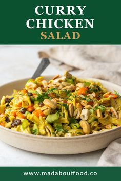 Salad doesn't have to be boring! That's right I said it, and it's true because I used to think that chicken salad was a really boring lunch recipe, but that was before I knew how to mix it up. Now I know you can start with a base of shredded chicken and mayo and add just about any mix ins you like! This healthy Whole30 chicken salad recipe is flavored with curry powder and the subtle spice is balanced by the sweetness of carrots and raisins. And a few extras because why not have fun with…