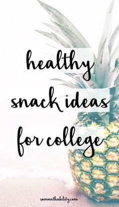 Healthy College Snack Ideas Healthy snack ideas for college! These snack ideas are dorm friendly and easy to grab and go! Perfect for healthy eating in college! Healthy College Snacks, College Meals, College Hacks, College Life, College Food, College Recipes, Dorm Life, Budget Recipes, College Grocery List