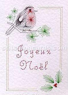 Stitching Card Christmas pattern