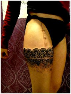 "Amazing tattos by French tattoo artist, Xoil. Its called ""Photoshop Style"" tattoos. Amazing tattos by French tattoo artist, Xoil. Its called ""Photoshop Style"" tattoos. Thigh Tattoo Designs, Tattoo Designs And Meanings, Tattoo Designs For Women, Tattoos For Women, Mädchen Tattoo, Tattoo Photo, Lace Tattoo, Wrist Tattoo, Side Tattoos"