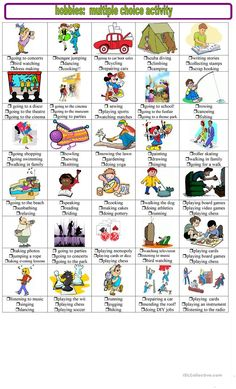 Hobbies and pastimes multiple choice activities worksheet - Free ESL printable worksheets made by teachers Easy Hobbies, Hobbies To Try, Hobbies That Make Money, English Lessons, Learn English, English Tips, English Exercises, English Classroom, Multiple Choice