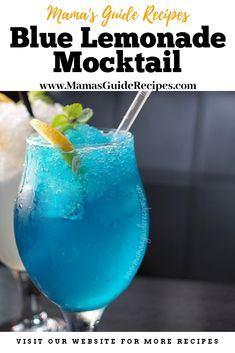 Party refreshment doesn't need to have an alcohol. This drink looks like one, but definitely alcohol free for everyone to enjoy! Blue Lemonade Recipe, Pink Lemonade Recipes, Alcoholic Punch Recipes, Drinks Alcohol Recipes, Tea Recipes, Alcoholic Drinks, Cocktails, Cocktail Drinks, Party