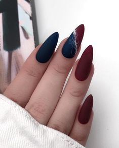 and Hottest Matte Nail Art Designs Ideas 2019 elegant almond matte nails design ideas; almond nails The post and Hottest Matte Nail Art Designs Ideas 2019 & Style appeared first on Fall nails . Matte Almond Nails, Long Almond Nails, Matte Nail Art, Long Nails, Short Nails, Nail Art Blue, Fall Almond Nails, Almond Nails French, French Nails