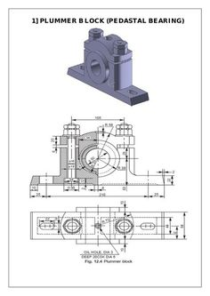 Assembly and Details machine drawing pdf - Mechanical engineering - taktak decor Metal Lathe Projects, Mechanical Projects, Mechanical Engineering Design, Mechanical Design, Autocad Isometric Drawing, Isometric Drawing Exercises, Solidworks Tutorial, Drawing Machine, Industrial Design Sketch