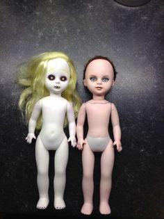 living dead doll two dolls lot nude custom bait 16 +6