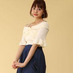J-Fashion / Tops / Honey Salon Off-Shoulder Knit Top Tokyo Otaku Mode, Mode Shop, Toms, Shop Now, Honey, Knitting, Shoulder, Shopping, Vintage
