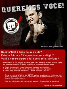 """Participe da Promoção """"Queremos você"""" da GO! Radio Rock! http://goradiorock.com.br"""