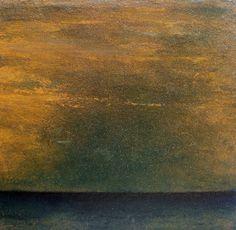 Óleo tela 40x40x2cm Ca0219 Obscuro horizonte