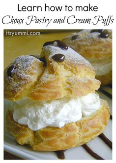 I love this recipe for cream puffs! They're made from choux pastry. With that recipe, you can create sweet and savory pastry recipes for the holidays!