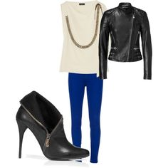 perfect rocker outfit with a pop of color!
