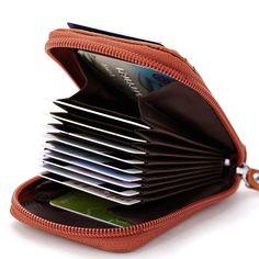 7ccf15d3960 Man Wallet Women Bag Genuine Leather Credit Card Holder Women Zipper Coin  Purse ID Card Package for Business Porte Carte