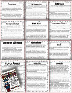 Motivate a love a reading with this fun literacy packet. Ideal for third grade! 13 Superhero passages! Each passage comes with text dependent questions and graphic organizers. Help your students cite text evidence and prepare for upcoming tests in a non-threatening way. RI.1.2.3.4.5.6.8