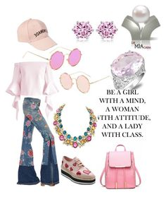 """Spring Walk"" by lamiacara ❤ liked on Polyvore featuring Prada, Chicwish, Amici Accessories, Rimini and Roberto Cavalli"