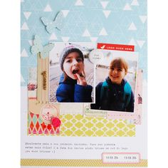 #papercraft #scrapbook #layout. Inspired Friday: First tooth by baersgarten at @studio_calico