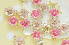 4 pcs Metal  Pearlized Sakura/ Cherry Blossom by misssapporo