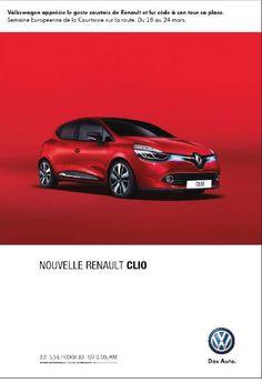 Semaine de la courtoisie, Volkswagen fait la promo de Renault. ^^